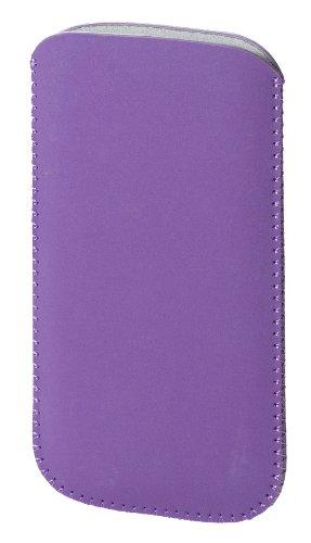 Vivanco Étui en tissu synthétique avec sangle de tirage universel pour Samsung lilas