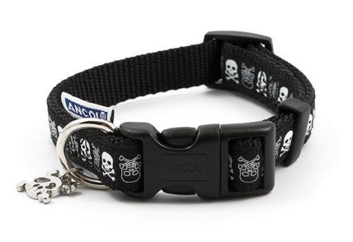 Ancol Skulls Hunde-Halsband, 30–50cm (Release Schnalle Kragen)