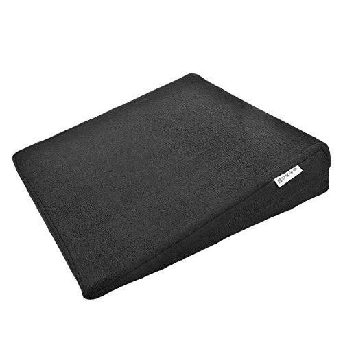 Unbekannt Sitzerhöhung Keilkissen Relax Rückenkissen schwarz Auto Sitzkissen Bezug Waschbar fürs Auto und für den Stuhl