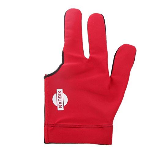 Generic Lycra Drei Finger Billardhandschuh, Linke Hand