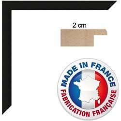 Cadre photo sur mesure 32x45 cm ou 45 x 32 cm cadre Noir, 2 cm de largeur, Cadre en bois