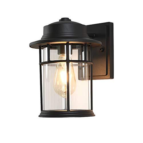 Lumières de Mur Extérieures, Lanterne Murale de Style Simple Moderne avec Abat Jour en Verre Clair Luminaire en Aluminium E27 Imperméable Lampe de Jardin Filaire pour Mur Extérieur Couloir Porte