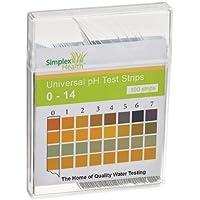 Simplex Health L'Eau Bandes de test pH 0-14 Gamme Eau Alcaline Acide et deux pad universel pour tester (100 bandes…