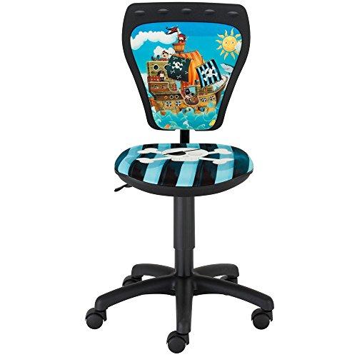 NOWY STYL Piraten Schreibtischstuhl Kinderzimmer Kinder Jungen Drehstuhl Ministyle Cartoon Piraten TS22 RTS