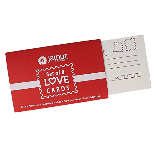 Jaipurcrafts Unique Love Story 8 Postcards Set Perfect Valentine S