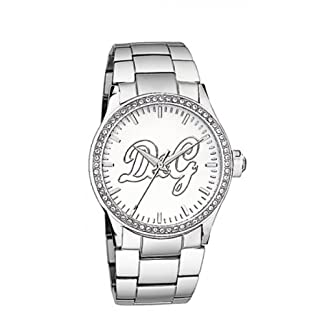D&G DW0846 – Reloj de Señora movimiento de cuarzo con brazalete metálico dial Blanco