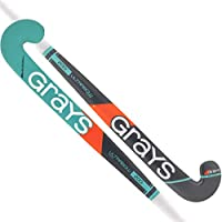 GRAYS 200i Indoor Ultrabow Palo Hockey, Gris/Turquesa, 34