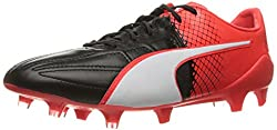 PUMA Mens Evospeed 1. 5 Lth Ag Soccer Shoe, Puma Black/Puma White, 10 M US