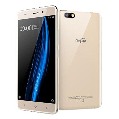 Wifi 3g Smartphone (Handy AllCall Madrid 5.5 '' Uldrathin Android7.0 Quad Core 1G + 8G 3G WiFi Doppel SIM HD Smartphone (Gold))