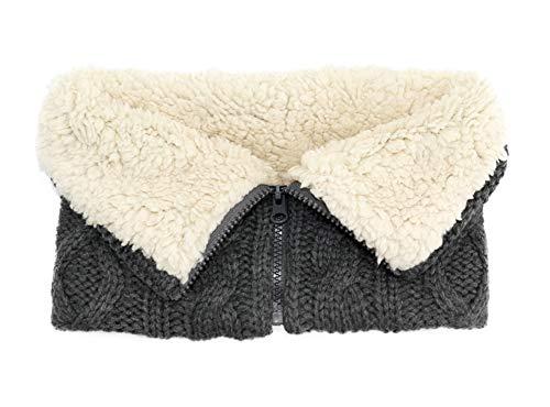 Wollstrick LäTzchen Kaschmir Winter Warm GefäLschte Kragen,Black,28cm*22cm
