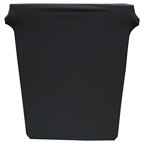 Snap Fall Slim Jim Trash kann Stretch Bezug-100% Polyester/Spandex Elastic figurnahe Passform Budget-Stretch-Bezug, Polyester, schwarz, 16 Gallons Polyester-snap