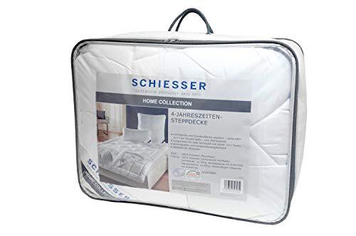 Schiesser 4-Jahreszeitendecke / 2-teilige Bettdecke / 155 cm x 220 cm / Allergiker geeignet /...
