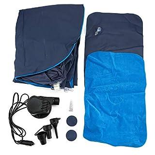 Tabithaolsou Auto Matratze Mobile Kissen, Multifunktions-Camping Luftbett Aufblasbare Matratze Auto Rücksitz Extra Matratze mit Repair Pad Luftpumpe Zwei Kissen, für Reisen Camping