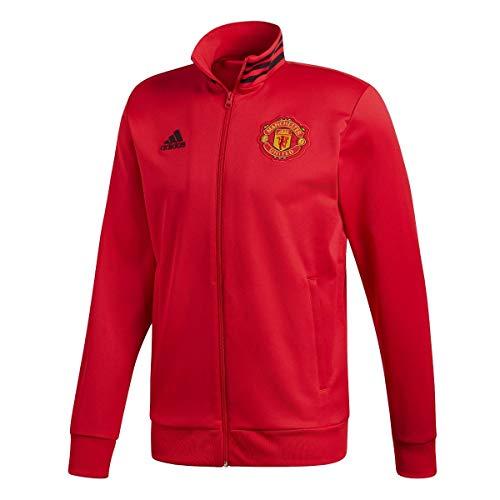 Adidas MUFC 3S TRK Top - Chaqueta de Entrenamiento 3ª equipación Manchester United FC, Hombre, Rojo(ROJREA/Negro)