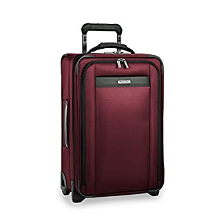 Briggs & Riley Transcend Tall Carry-On Expandable Upright, 56cm, 52.1 litres, Merlot Equipaje de Mano, 56 cm, Liters, Rojo (Merlot)