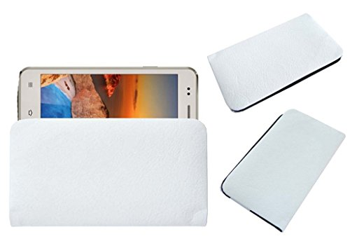 Acm Rich Leather Soft Case For Iball Andi 5K Sparkle Mobile Handpouch Cover Carry White  available at amazon for Rs.179