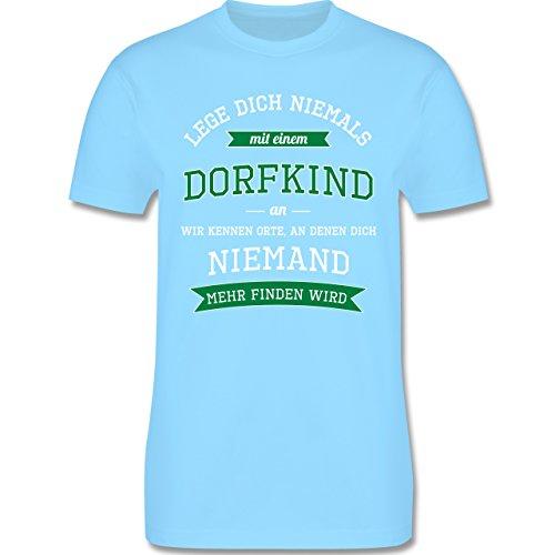 Sprüche - Lege dich niemals mit einem Dorfkind an - Herren Premium T-Shirt Hellblau