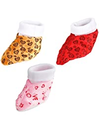 Firststep Soft Cotton Shoes (Multicolor, Pack Of 3)