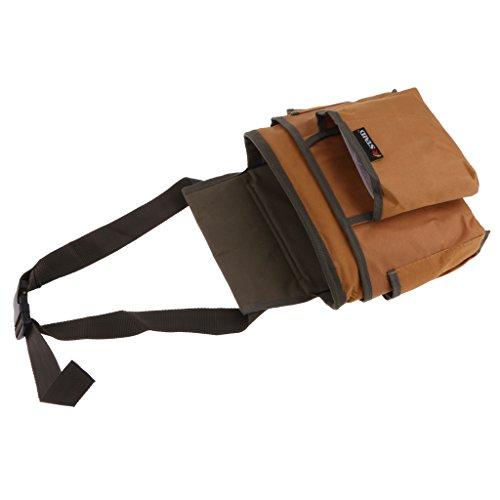 petsola 4 Arten Utility Bag Tools Halter Multi Taschen Taille Tasche Nagel Werkzeug - Braun -