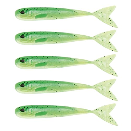 WestinMega Teez 5' (127mm) No Action V Tail Shad Lime Curd