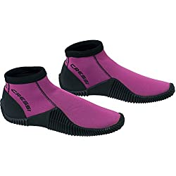 Cressi Low Boot Escarpines de Buceo, Unisex Adulto, Rosa/Negro, S