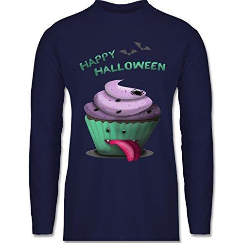 Shirtracer Halloween - Halloween Treats - Herren Langarmshirt Navy Blau
