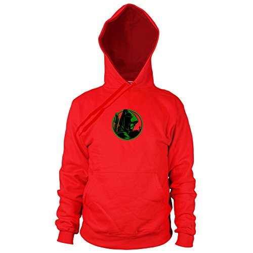 Oliver - Herren Hooded Sweater, Größe: XXL, Farbe: rot (Green Arrow Kostüm Staffel 4)