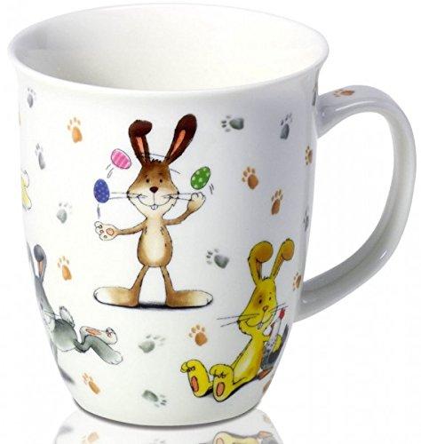 Oster Hase Funny Bunnies Porzellan Becher im Geschenkkarton