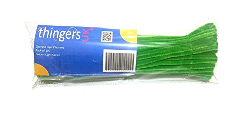 thingers-uk-30-cm-chenille-cure-pipes-6-mm-vert-clair-pack-of-100