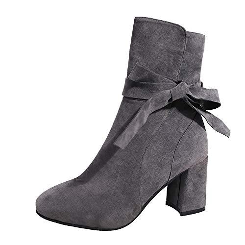 Stiefel Absatz 5Cm,Winter Stiefel Stiefel Absatz Leder Boots -