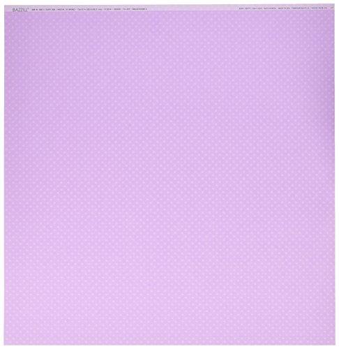Bazzill Berry (Bazzill Basics Papier Scrapbooking Blatt Dotted Berry Pretty, Violett)