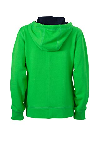 James & Nicholson Veste lifestyle Zip à Capuche Sport Sweatshirts Vert/bleu marine