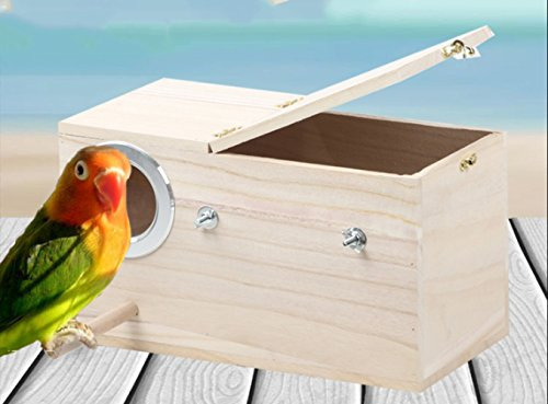 Naolong Bird Breeding Box - Bird Nest aus massivem Holz - Bird Warmer Incubator - Nistkasten - Bird Cage Zubehör,A,Hölzern