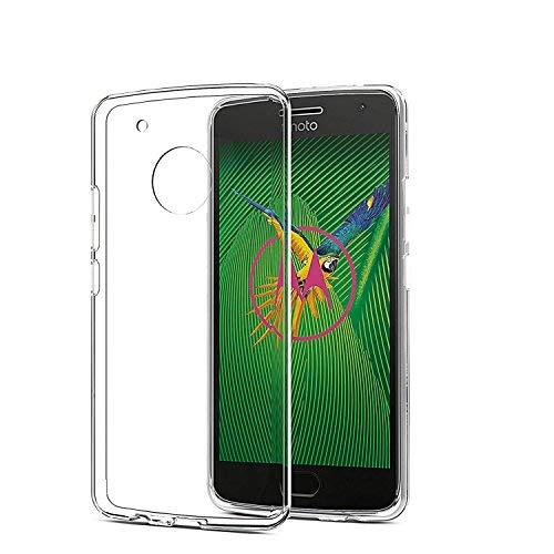 [2 Stück]Moto G5 Plus Hülle, SPARIN Moto G5 Plus Schutzhülle Silikon Soft TPU Premium Durchsichtige G5 Plus Handyhülle Anti-Kratzer klar Rücken für Moto G5 Plus Tasche