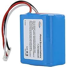 efluky 2500mAh 7.2V NI-MH Batería de Repuesto para iRobot Braava 380,380T,