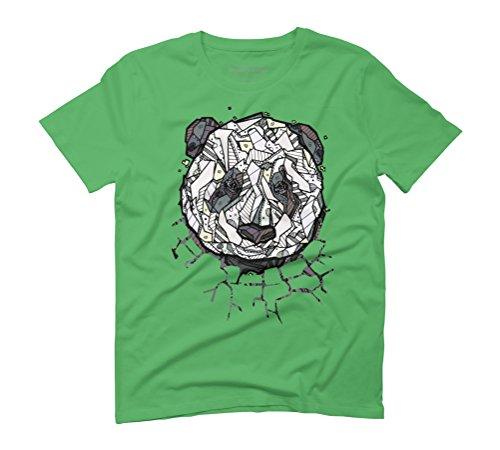 ABSTRACT PANDA BEAR Men's Graphic T-Shirt - Design By Humans Green