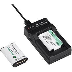 Powerextra Lot de 2 Batteries NP-BX1 1600mAH et Chargeur pour Sony NP-BX1/M8 et Sony Cyber-Shot DSC-RX100, DSC-RX100 II, DSC-RX100M II, DSC-RX100 III, DSC-RX100 V, DSC-RX100 IV, HDR-CX405