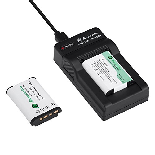 Powerextra Lot de 2 Batteries NP-BX1 1600mAH et Chargeur pour Sony NP-BX1 M8 et Sony Cyber-Shot DSC-RX100 DSC-RX100 II DSC-RX100M II DSC-RX100 III DSC-RX100 V DSC-RX100 IV HDR-CX405