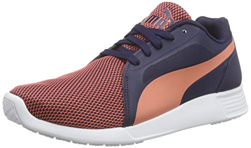 Puma St Trainer Evo Tech Unisex-Erwachsene Low-Top Orange (fluo peach-peacoat 05)