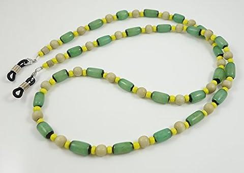 Brillenband/Brillenkette aus Glasperlen BR-4526 (Buri Natur)