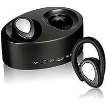 Mini Gemelos Auriculares Bluetooth, Estéreo Inalámbrico In Ear Auricular Invisible Earbudscon Estuche de Carga Manos