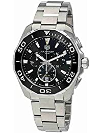 d6562d2f01da TAG Heuer Men s Aquaracer 43mm Steel Bracelet   Case Quartz Black Dial  Analog Watch CAY111A.