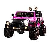 UEnjoy SUV Kinderauto Fahrt auf Autos 12V Kinder Elektroautos mit Fernbedienung 4 Geschwindigkeiten Scheinwerfer Modell HP-002 Rosa