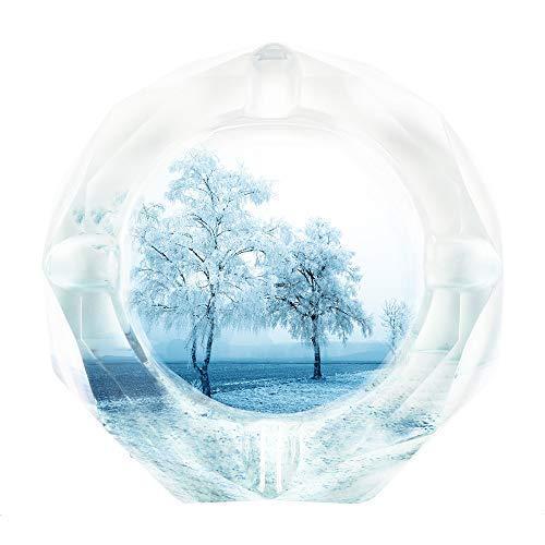 SEA or STAR Aschenbecher für Zigaretten White Crystal Material Hoher Brechungsindex Schöne Dekorationen Geeignet für Häuser, Cafés, Bars (Snow) (Crystal Zigarette Aschenbecher)