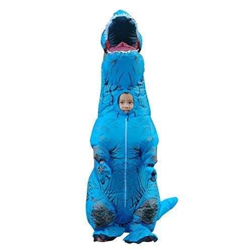 Seogva aufblasbare kostüme halloween - kostüme für kinder der dinosaurier Blue