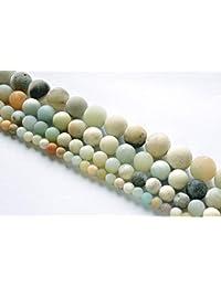 3829b102c9dd Maslin cuentas redondas de piedra de amazonita mate natural ágatas 4-12 mm  cuentas sueltas