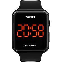 Farsler Reloj digital deportivo unisex, LED, multifuncional, sumergible hasta 30m, para estudiantes, con personalidad, luminoso