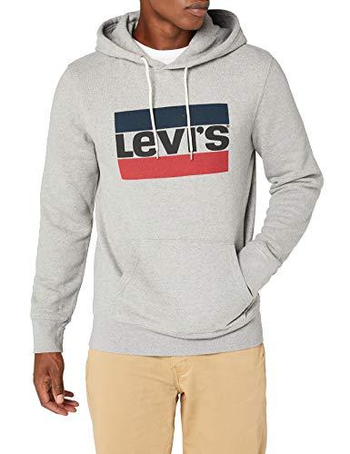 Levi's Herren  Graphic Hoodie Kapuzenpullover, Grau (84 Sportswear Logo Midtone Grey Htr 0028), Large Eine Art Sweatshirt