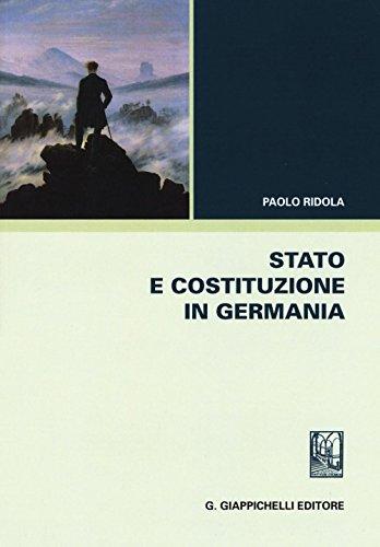 Stato e costituzione in Germania por Paolo Ridola
