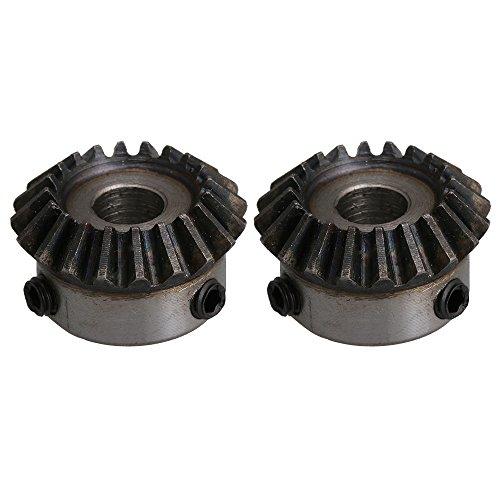 2 Stücke 8mm Lochdurchmesser 1,25 Modul 45# Stahl 20 Zähne verjüngtes Kegelgetriebe (Kegelradgetriebe-schleifer)